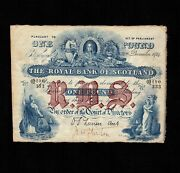 Scotland 1 Pound 1914 P-316d Vf Early Date