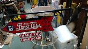 Pepsi Cola Coca Cola Metal Arrow Signs -approximately 27 X 9bracket 33 In Wal