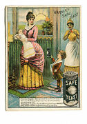 Victorian Trade Card Warners Safe Yeast Mother And Sick Baby