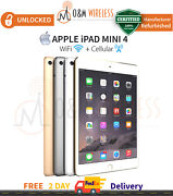 Apple Ipad Mini 4 A1550, Wifi And 4g, Unlocked - All Colors And Capacity