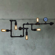 Farmhouse Industrial Vintage Wall Lamp Steampunk Water Pipe Wall Sconce Lighting