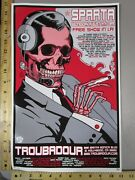 Rock Roll Concert Poster Sparta Brian Ewing S/n Le 300 Smoking Skeleton