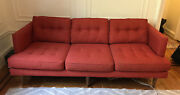 Red Peggy Mid-century Couch West Elm Great Condition