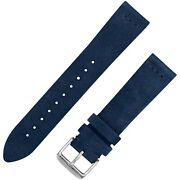 Vintage Suede Leather Watchband - Navy Blue - 18 20 And 22mm