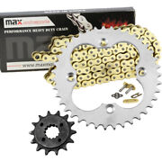 Gold O-ring Chain And Sprocket Fit 2005-2008 2006 2007 Honda Trx 400 Ex Sportrax