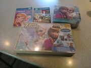 Frozen Lot - 7 Wood Puzzle Set , Metal Lunch Box And Puzzle , 2 Frozen Books New