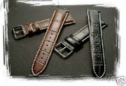Genuine Leather Band Strap Fits Longines Master 22mm 21mm 20mm 18mm Brown Black