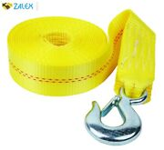 2x20' Heavy Duty Winch Strap W/ Hook For Large Boat Trailer Max 10000 Lb Yellow