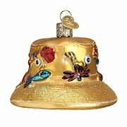 Old World Christmas 32250 Glass Blown Fishermanandrsquos Hat Ornament