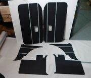 New 6 Piece Interior Panel Set W/ Door Panels Mgb Roadster 1968-69 Black W White