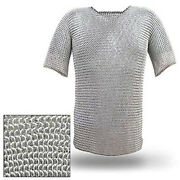 Aluminium Chain Mail Shirt Butted Chainmail Haubergeon Medieval Armour Costume