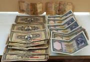 1926 - 1939 Greek Drachmas 71 Pieces Paper Money 1000 500 100 And 50