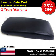 Center Console Lid Armrest Cover Synthetic Leather Fit Toyota Avalon 13-18 Black