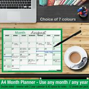 Month Planner Desk / Wall A4 Monthly Planner Double Sided ✔home ✔office ✔green