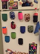 200 Magnetic Can Holders Koozie Coozies Holiday Gift, Tailgate, Golf, Fridge Bbq