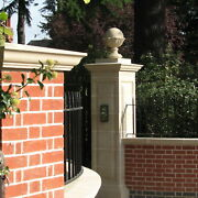 Pairs Of Decorative Cast Stone Gate Piers Pillars From Acanthus