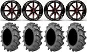 Fuel Maverick Red 18 Wheels 33x8 6ply Bkt 171 Tires Polaris Ranger Xp 9/1k