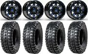 Fuel Lethal Blue 15 Wheels 32 Chicane Rx Tires Can-am Renegade Outlander