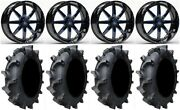 Fuel Maverick Blue 20 Wheels 35 Interforce 628 Tires Polaris Rzr Turbo S/rs1