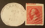 Two Cent George Washington Postage Stamp Post Marked 1900