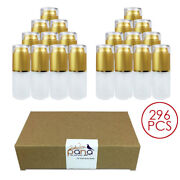 296pcs Pana 30ml Refillable Gold Frosted Glass Spray Bottle With Gold Cover Cap