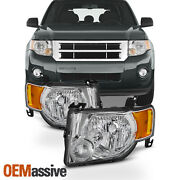 Fit 2008 2009 2010 2011 2012 Ford Escape Headlights Lamps Replacement Left+right