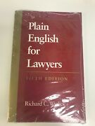 Plain English For Lawyers 5th Ed. By Richard C. Wydick - Brand New