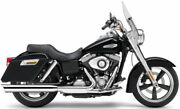 Cobra Slip-on Muffler With Scalloped Tip Exhaust Harley Dyna Switchback 2012-14