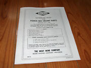 This Vintage Karting West Bend Engine Div. Parts List And Prices 1961 16 Pages