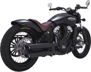 Vance And Hines Twin Slash Slip-ons For Indian 48623 Matte Black 3 In.