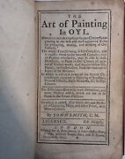 1723 The Art Of Painting In Oyl - By John Smith Clockmaker - Very Scarce