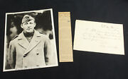 Brigadier General Adrian S. Fleming Signed Military Letter, Wwi Photo