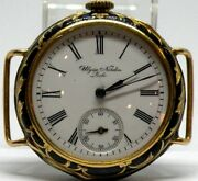 Unique And Rare Ulysse Nardin Locle 18k Gold Enamel And Diamond 32mm Manual Wind