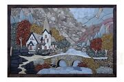 The Old Church Handmade Stone Picture Innocent Wall Decor Mosaic Decorativeart