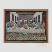The Last Supper Handmade Mosaic Art Picture Natural Stone Mosaic Decorativeart