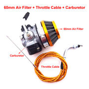 Racing Carburetor Carb Throttle Cable For 49 50 60 80 Cc Gas Motorized Bicycle