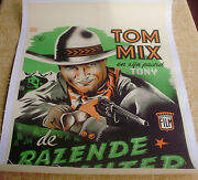 Miracle Rider Linen Dutch '35 Tom Mix Is The Idol Of Every Boy In The World