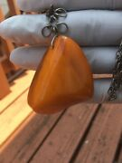 Amber Antique Baltic Amber Pendant With Chain