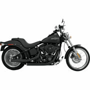 Supertrapp Black Mean Mother Staggered Drag Pipes Exhaust 12-16 Harley Softail