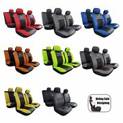 Elite 9pcs Full Set Car Seat Cover Universal Size For Tacoma Frontier