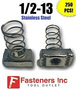 Qty 250 1/2-13 Stainless Steel Spring Nuts For Unistrut Channel P1010u-ss