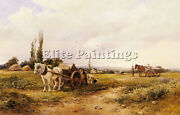 Bates David In The Mangel Field Artist Painting Reproduction Handmade Oil Canvas