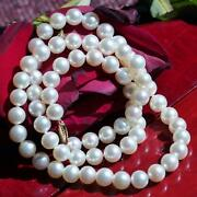 Honora 14k Yellow Gold 7.5mm White Cultured Pearl Necklace 20.0 Strand 37.0gr