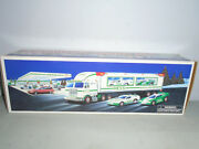 Hess Toy Truck And Racers. Nib 1997