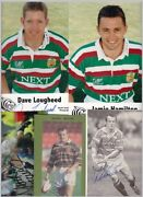 Rugby Leicester Tigers 100+ Signed Items Mostly Small C1990/2000s
