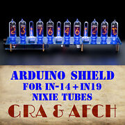 In-14+in19a Arduino Shield Ncs314-8c Nixie Tubes Clock [with Options] [9 Tubes]