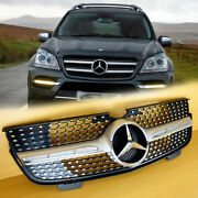 For Mercedes-benz X164 Gl-class 0712 Gl450 / 1012 Gl350 Silver Front Grille