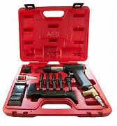 Aircraft Tools New Deluxe 737 Red Box 3x Rivet Gun Kit With Blocks And Snaps