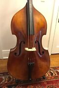 3/4 Upright Bass Violin By Anton Schroetter Germany Plywood Ex Playing Condition