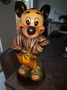 Extremely Rare Walt Disney Mickey Mouse Streetwise Old Big Figurine Statue